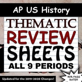 APUSH / AP US History Thematic Timeline Review Sheets