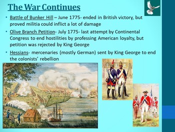 APUSH- American Revolution Powerpoint and Guided Notes
