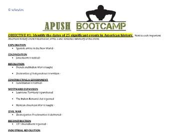 APUSH BOOTCAMP!