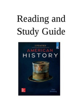 Brinkley American History Textbook Reading and Study Guide for AP US History