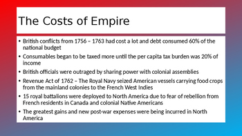 APUSH Ch 5 - The Problem of Empire (1763 - 1776)