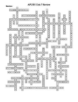 APUSH Chapters 14-15, 17 Review Puzzle: 2nd GA, Mex-Am War etc.
