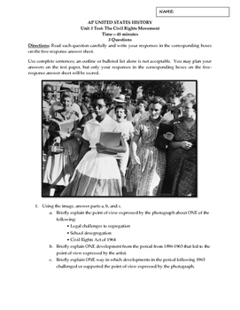 APUSH Civil Rights Movement Short Answer Questions