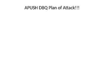 APUSH DBQ Plan of Attack (2019)