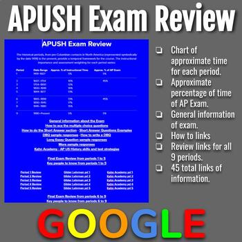 Apush Exam Worksheets Teaching Resources Teachers Pay
