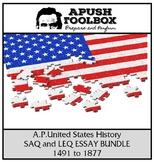 APUSH SAQ and LEQ  Bundle [1491 to 1877]