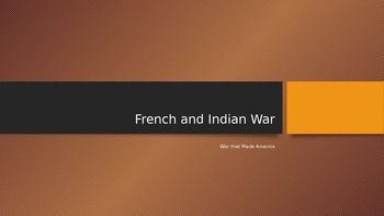 APUSH French and Indian War PowerPoint
