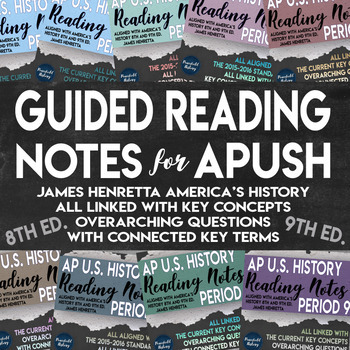 APUSH Full Year Guided Reading Worksheets America's History Henretta Bundle