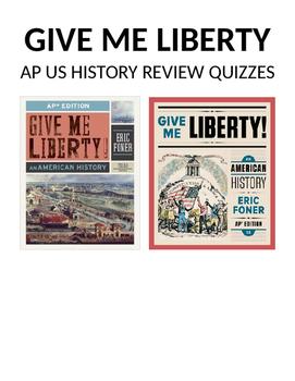 APUSH Give Me Liberty Review Quizzes