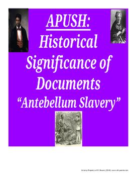 "APUSH HIPPO ""Antebellum Slavery"""