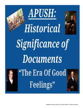 APUSH - HIPPO - Era of Good Feelings