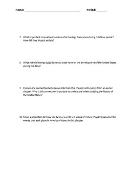 APUSH Historical Themes: Questions