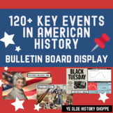 APUSH Image Review/Wall Art Timeline - 120 Key Events in US History