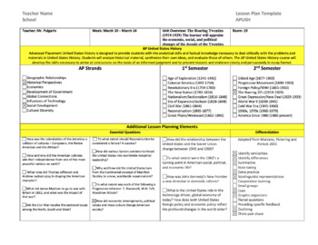 AP US History Lesson Plan Templates By William Pulgarin TpT - History lesson plan template