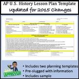 AP U.S. History Lesson Plan Templates