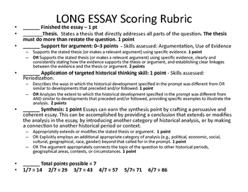 Persuasive Essay Thesis Statement Examples Apush Long Essay Tutorial Rubrics And Sample Essays English Essay Outline Format also How To Write A Thesis For A Persuasive Essay Apush Long Essay Tutorial Rubrics And Sample Essays By Mrs Wood  Business Argumentative Essay Topics