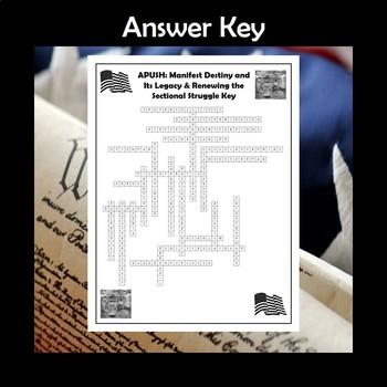 APUSH Manifest Destiny & Renewing the Sectional Struggle Crossword Review