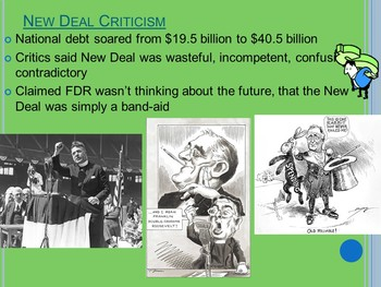 APUSH New Deal Powerpoint Presentation with Guided Notes