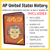 APUSH Packet and Daily Warm-Up - Updated for 2018!