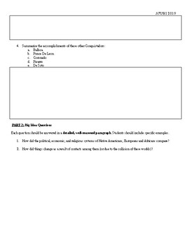 APUSH - Reading Guide for Chapter 1 - America's History