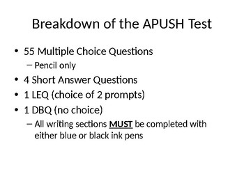 APUSH Exam: Period 1 Review PowerPoint