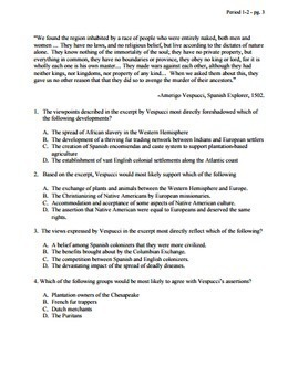 Apush Chapter Test multiple choice answer key