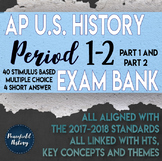 APUSH Period 1 and Period 2 Stimulus Based Multiple Choice Test BUNDLE
