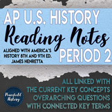 APUSH Period 2 Guided Reading Worksheets America's History Henretta