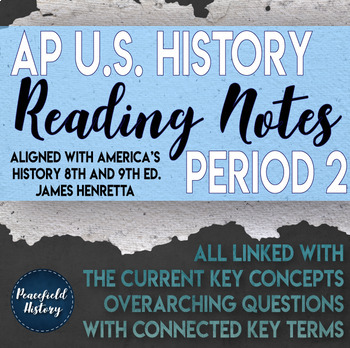 APUSH - Period 2 - Guided Reading Worksheets - America's H