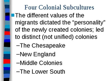 APUSH Period 2 Notes #2 - English Colonial Roots in America