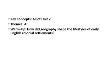 APUSH Exam: Period 2 Review PowerPoint