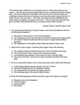 APUSH - Period 2 - Stimulus Based Multiple Choice - Test Bank - Part 2
