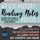 APUSH Period 3 Guided Reading Worksheets America's History Henretta