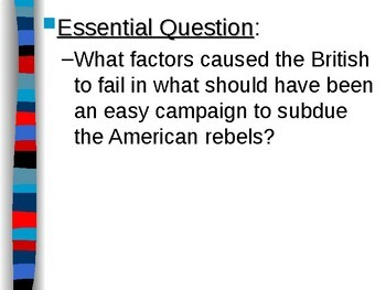APUSH Period 3 Notes #2 - American Revolutionary War