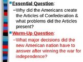 APUSH Period 3 Notes #3 - Articles of Confederation & Calls for the Constitution