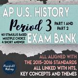 APUSH Period 3 Stimulus Based Multiple Choice Short Answer Test Bank BUNDLE