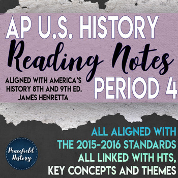 APUSH Period 4 Guided Reading Worksheets America's History Henretta