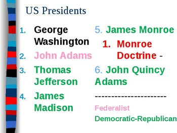 APUSH Period 4 Notes #4 - Monroe and Sectionalism