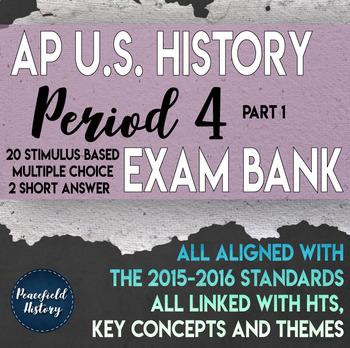 APUSH Period 4 Part 1 Stimulus Based Multiple Choice Test