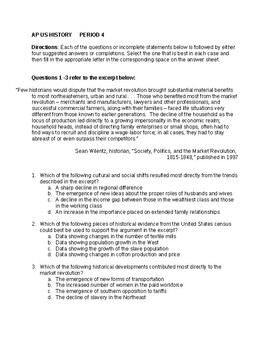 APUSH Period 4 Stimulus Based Multiple Choice Questions
