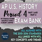 APUSH Period 4 Stimulus Based Multiple Choice Short Answer Test Bank BUNDLE
