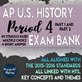 APUSH Period 4 Stimulus Based Multiple Choice Short Answer Test Bank BUNDLE