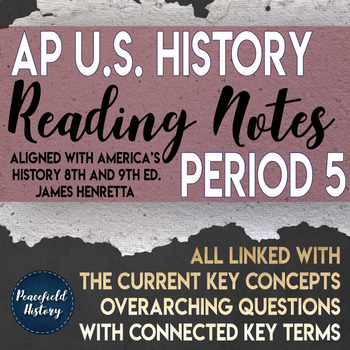 APUSH Period 5 Guided Reading Worksheets America's History Henretta