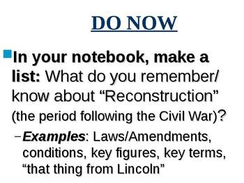 APUSH Period 5 Notes #6 - Early Reconstruction (Johnson Admin)