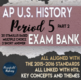 APUSH Period 5 Part 2 Stimulus Based Multiple Choice Test Bank Questions