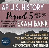 APUSH Period 5 Stimulus Based Multiple Choice Test Bank Questions BUNDLE
