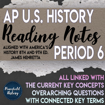APUSH Period 6 Guided Reading Worksheets America's History