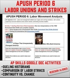 APUSH Period 6: Labor Union and Strikes - Google Doc Dista