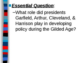 APUSH Period 6 Notes #3 - Politics of the Gilded Age