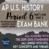 AP US History Period 6 Stimulus Based Multiple Choice Short Answer Test Bank